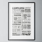 Whitelabel Poster Edinburgh Words