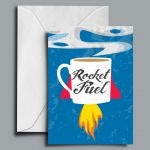 Rocket Fuel Greetings Card
