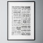 Falkirk Words Poster