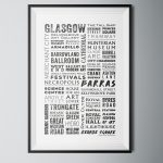 Glasgow Words Poster